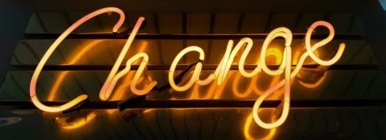 corona change neon sign